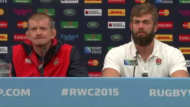Row over Hakarena dance video ENGLAND London INT Geoff parling press conference SOT Enjoy facing the Haka