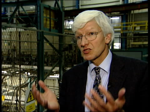 row over location of experimental fusion reactor cms professor sir chris llewellyn smith interview sot talks of savings that can be made if there is... - nuclear fusion stock videos and b-roll footage