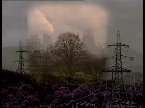 row over location of experimental fusion reactor itn graphic sequence power lines / power station / oil fire / nuclear power station / wind turbines... - nuclear fusion stock videos and b-roll footage