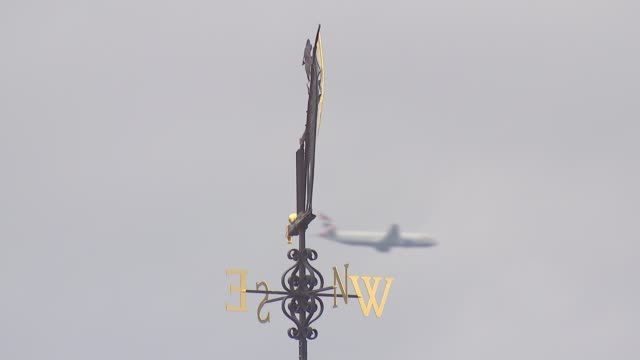 row over lord's future pits former captains on opposing sides plane along in sky behind weathervane - lords cricket ground stock videos and b-roll footage
