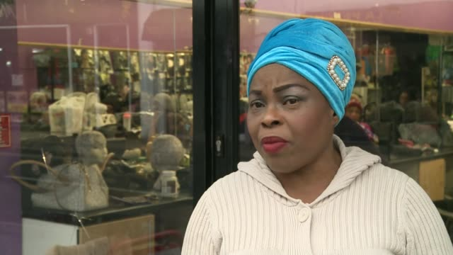 stockvideo's en b-roll-footage met row over plan to relocate some afrocaribbean hairdressers in peckham row over plan to relocate some afrocaribbean hairdressers in peckham various... - peckham