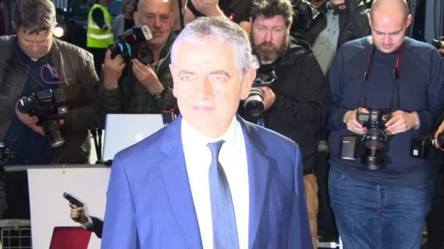 rowan atkinson at 'johnny english strikes again' special screening at the curzon mayfair on october 3 2018 in london england - ローワン アトキンソン点の映像素材/bロール