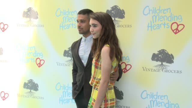 rowan blanchard and wilmer valderrama at the children mending hearts 9th annual empathy rocks on june 11 2017 in los angeles california - wilmer valderrama stock videos & royalty-free footage