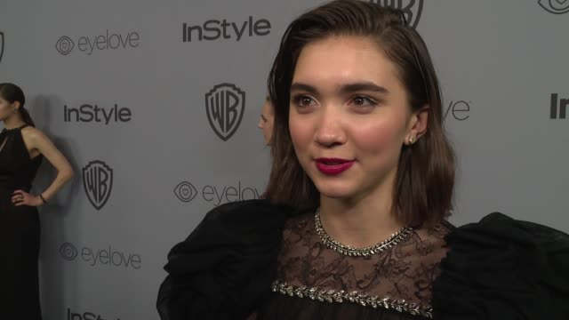 INTERVIEW Rowan Blanchard at the Warner Bros Pictures and InStyle Host 19th Annual PostGolden Globes Party at The Beverly Hilton Hotel on January 7...