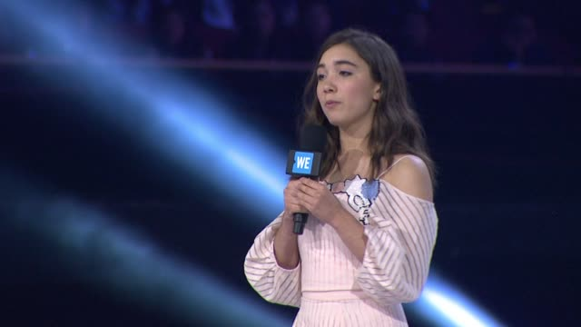 speech rowan blanchard at we day california at the forum on april 07 2016 in inglewood california - inglewood stock videos and b-roll footage