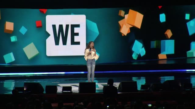 rowan blanchard at we day new york welcome to celebrate young people changing the world at radio city music hall on april 06, 2017 in new york city. - radio city music hall stock-videos und b-roll-filmmaterial