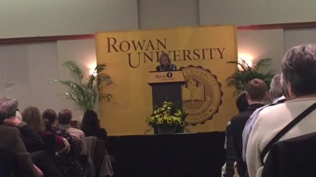 Rowan University in Glassboro NJ hosted students family and local residents to a special treat on this President's Day 2017 National Best Selling...