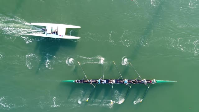 rowers on oakland estuary - paddeln stock-videos und b-roll-filmmaterial