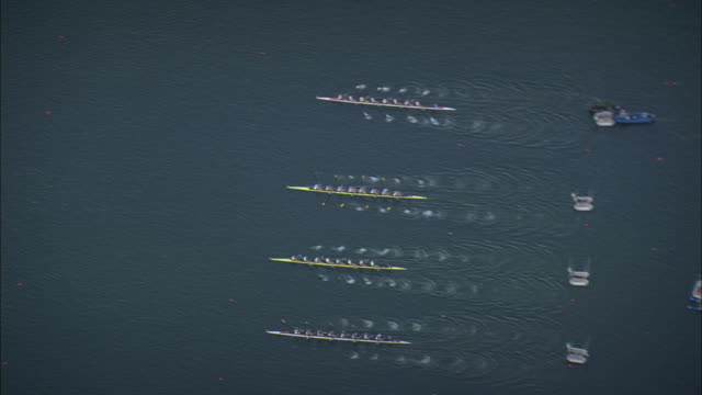 Rowing Sprint Race For Eights By Ratzeburg