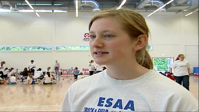 rowing trials at bisham abbey nikki mcsweeney interview sot - abbey stock videos & royalty-free footage
