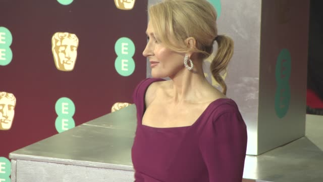 jk rowling at ee british academy film awards at royal albert hall on february 12 2017 in london england - j.k. rowling stock videos and b-roll footage