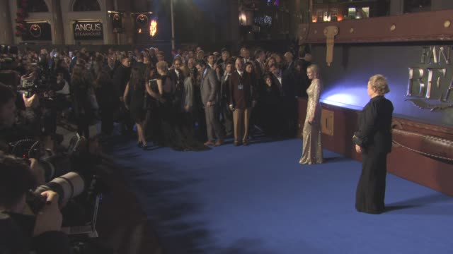 jk rowling at 'fantastic beasts and where to find them' european premiere at odeon leicester square on november 13 2016 in london england - j.k. rowling stock videos and b-roll footage