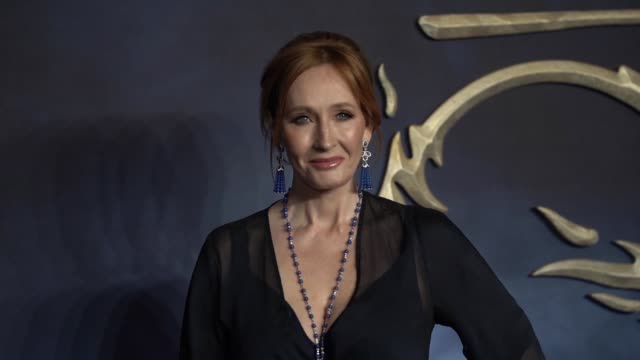 rowling at 'fantastic beasts the crimes of grindelwald' uk premiere on november 13 2018 in london england - j.k. rowling stock videos and b-roll footage