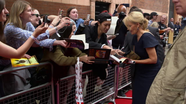 jk rowling at harry potter and the cursed child on july 30 2016 in london england - j.k. rowling stock videos and b-roll footage