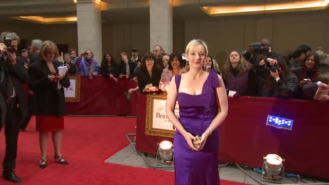 jk rowling at the galaxy book awards at the grosvenor house in london on april 9 2008 - j.k. rowling stock videos and b-roll footage