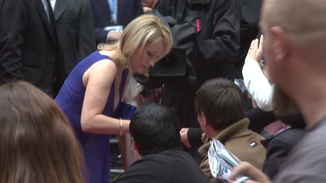 j k rowling at the harry potter and the halfblood prince at london england - j.k. rowling stock videos and b-roll footage
