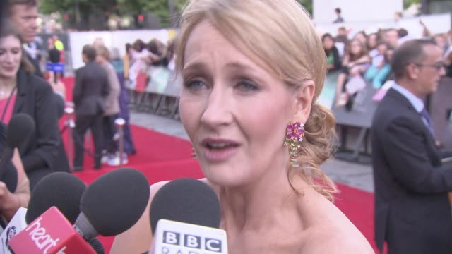 jk rowling defends her decision to cast a black actress as hermione granger in the upcoming harry potter stage play - j.k. rowling stock videos and b-roll footage