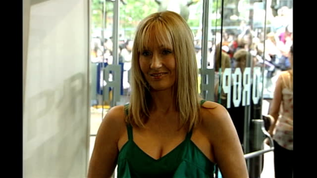 j k rowling returns to flat where she created harry potter england london leicester square photography *** rowling at film premiere ends - j.k. rowling stock videos and b-roll footage