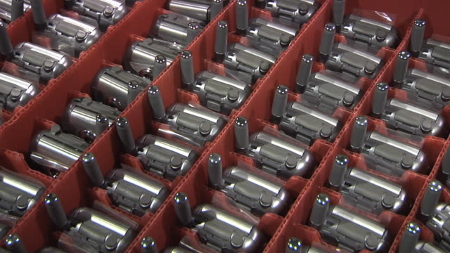 cu pan rows of cell phones ready to be shipped / dexter, michigan, usa - repetition stock videos & royalty-free footage