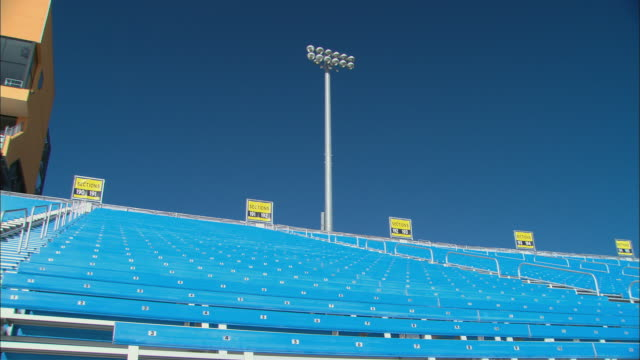 la ws pan td rows of empty bleachers at homestead-miami speedway / homestead, fl, usa - miami dade county stock videos and b-roll footage