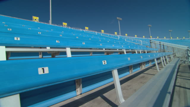 ws rows of empty bleachers at homestead-miami speedway / homestead, fl, usa - miami dade county stock videos and b-roll footage