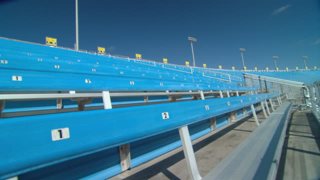ws td rows of empty bleachers at homestead-miami speedway / homestead, fl, usa - miami dade county stock videos and b-roll footage