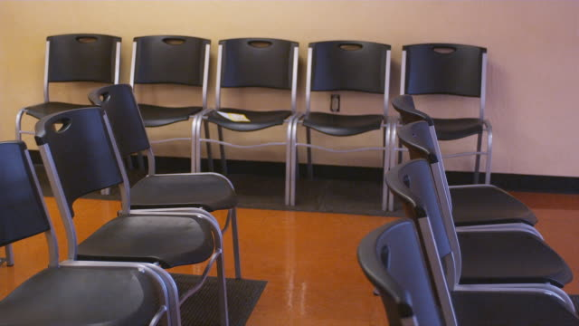 MS, Rows of empty chairs at unemployment office, Phoenix, Arizona, USA