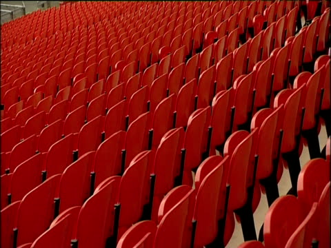 Rows of seats inside Wembley Stadium London