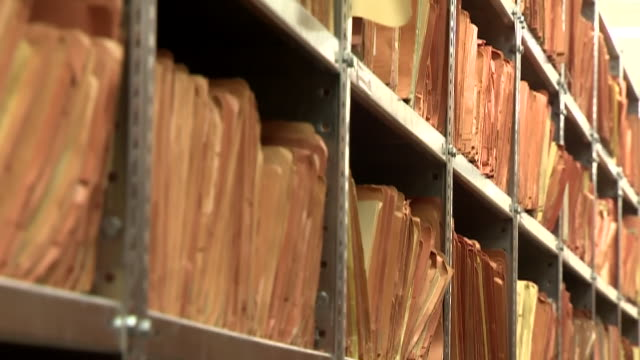 rows of secret stasi files - file stock videos & royalty-free footage