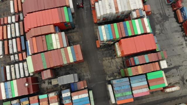 ポート ターミナルの出荷容器の行 - 商品点の映像素材/bロール