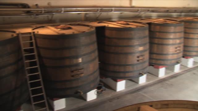 WS PAN Rows of tanks in cellar / Bordeaux, Gironde, France