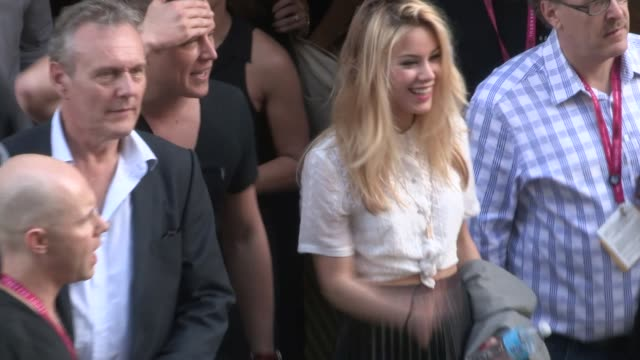 Roxanne Mckee Christopher Egan with Anthony Head depart the 2014 Comic Con Panel in San Diego in Celebrity Sightings in San Diego