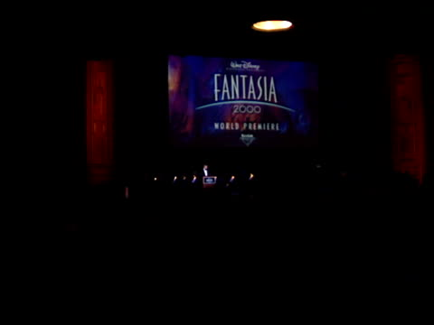 roy disney at the 'fantasia 2000' premiere at pasadena civic auditorium in pasadena california on january 1 2000 - pasadena civic auditorium stock videos & royalty-free footage