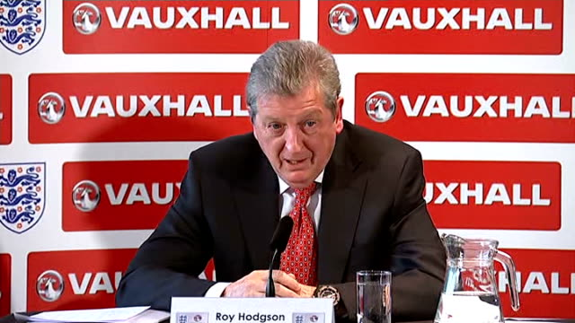 roy hodgson press conference to announce england world cup squad hodgson press conference sot on euro 2016 / focus is on world cup / whether squad is... - sports league stock videos & royalty-free footage