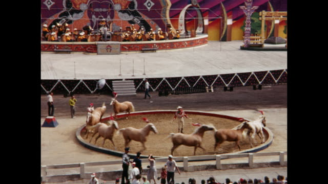 Roy Rogers show horses running in circle at Canadian National Exhibition Toronto Ontario Canada