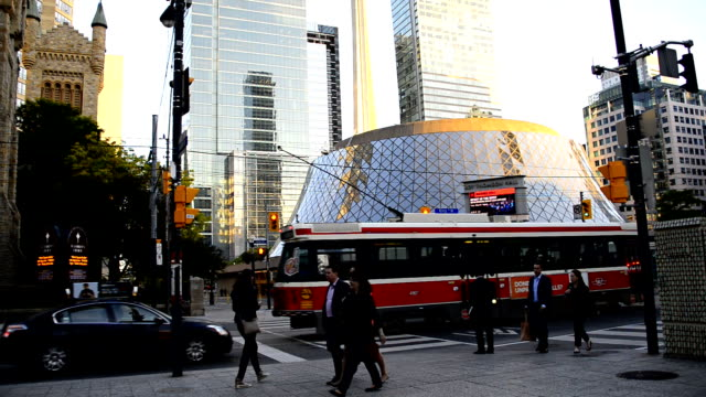 Roy Thomson Hall and the CN Tower in downtown