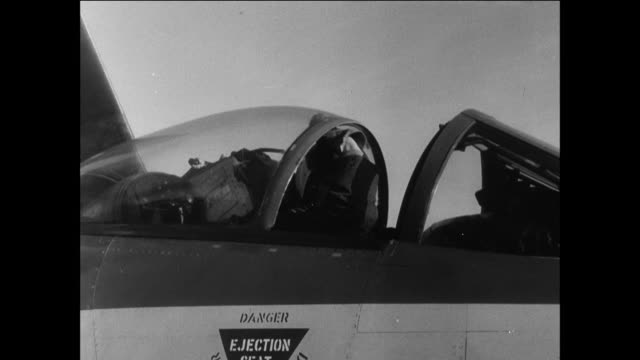 stockvideo's en b-roll-footage met royal air force planes taking off from an aircraft carrier / egypt suez canal crisis - suezcrisis