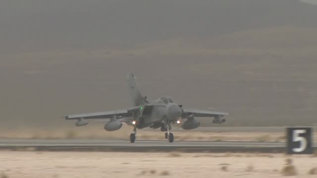 a royal air force tornado gr4 from raf marham united kingdom takes off during red flag red flag operations on nellis air force base red flag a... - raf stock videos and b-roll footage