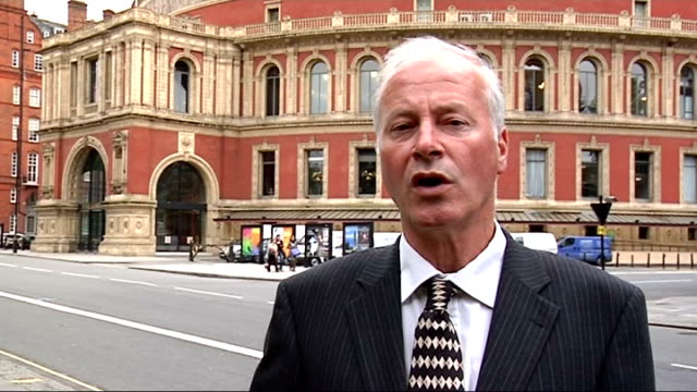 royal albert hall box leases on sale ext reporter to camera - royal albert hall stock videos and b-roll footage