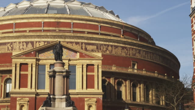 ms pan royal albert hall, london, united kingdom - royal albert hall stock videos and b-roll footage