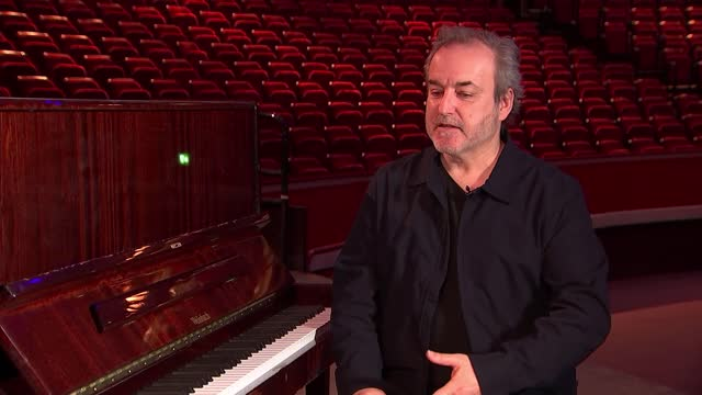 royal albert hall preparing for 150th birthday celebrations; england: london: royal albert hall: int david arnold interview with reporter sot - royal albert hall stock videos & royalty-free footage