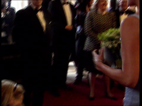 royal albert hall: princess diana chatting to little girl and shaking hands as attends gala performance of swan lake by the english national ballet - royal albert hall stock videos & royalty-free footage