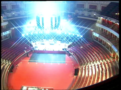 Royal Albert Hall reopens after 70 million pound makeover ITN London Albert Hall Ceiling of refurbished Albert Hall concert venue PAN TGV Stage in...