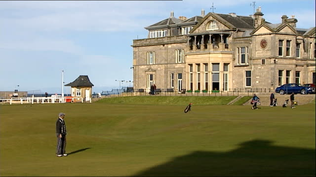 royal and ancient golf club votes in favour of allowing women members t26031410 2632014 fife st andrews golfers on golf course close shot brass... - clubhouse stock videos & royalty-free footage