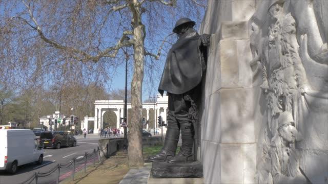 royal artillery memorial in springtime, hyde park corner, london, england, united kingdom, europe - world war one stock videos & royalty-free footage
