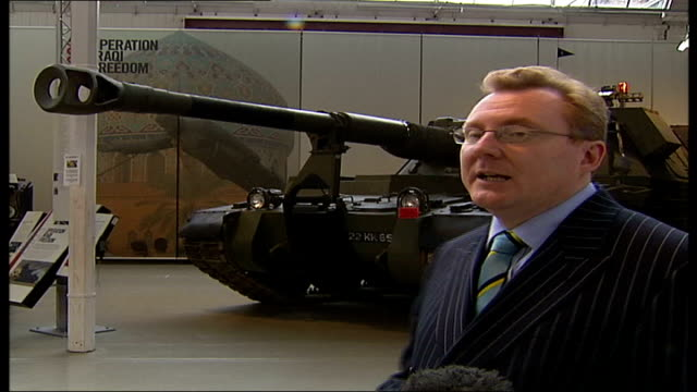 royal artillery to move from woolwich barracks mark smith interview sot was cannons now self propelled guns - ウールウィッチ点の映像素材/bロール