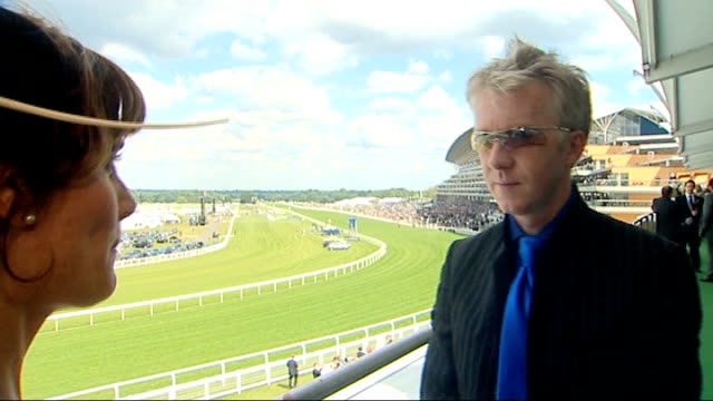 royal ascot racegoers observing strict dresscode / philip treacey interview philip treacy interview sot on attempt by ascot to enforce dress code... - milliner stock videos and b-roll footage