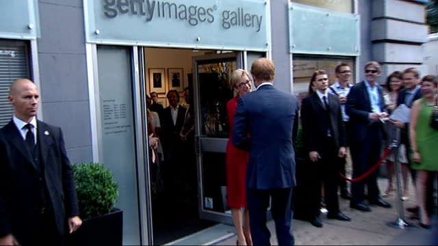 prince harry talks of his duties as an uncle england london ext prince harry from car on arrival to visit exhibition at the getty images gallery of... - nephew stock videos and b-roll footage