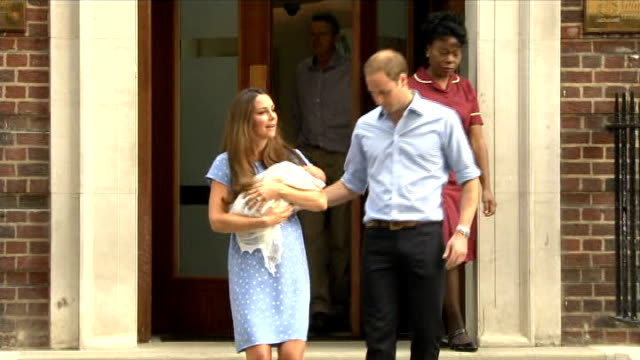 Prince Harry talks of his duties as an uncle R23071303 Paddington St Mary's Hospital EXT Prince William Duke of Cambridge and Catherine Duchess of...