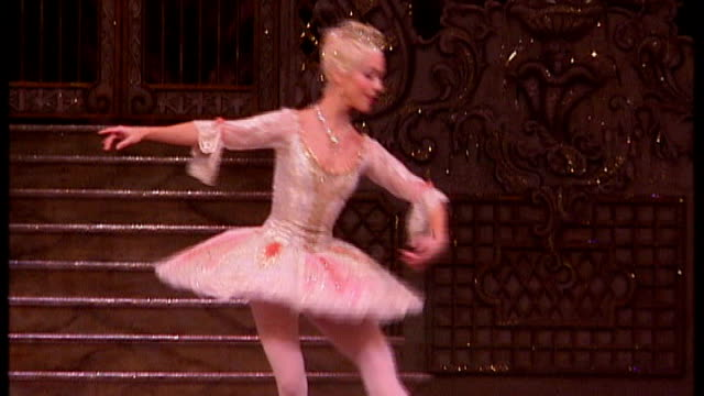 royal ballet school teaches commercial dance to pop music soundtrack date london int ballet dancers performing in 'nutcracker suite' sot - the nutcracker named work stock videos & royalty-free footage